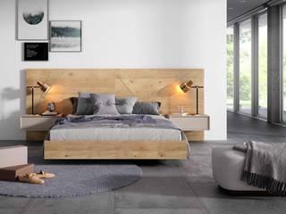 Dormitorio Minimal Madera Iluison Relax Cubimobax:  de estilo  de CUBIMOBAX S.L