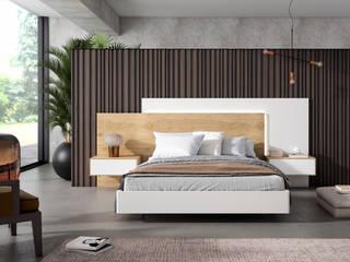 Dormitorio Free Blanco-Roble Iluison Relax Cubimobax:  de estilo  de CUBIMOBAX S.L