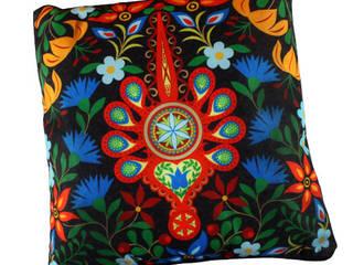 folkowe poduszki, ludowe wzory: styl , w kategorii  zaprojektowany przez kokofolk,