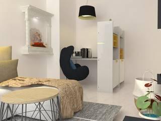 Divyasree Republic Whitefiled_2BHK:  Study/office by VIVRE ARCHITECTE
