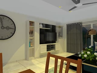 Unicaa Emporis_2.5BHK:  Living room by VIVRE ARCHITECTE