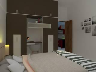 Unicaa Emporis_2.5BHK:  Bedroom by VIVRE ARCHITECTE