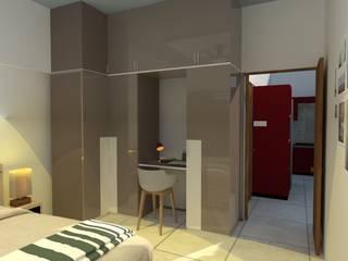 Unicaa Emporis_2.5BHK:  Small bedroom by VIVRE ARCHITECTE
