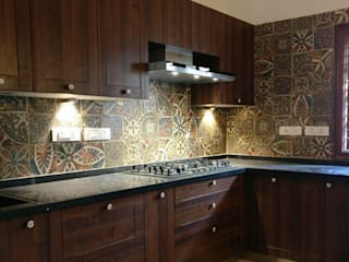 Prestige Lakeside Habitat_2BHK Modern kitchen by Grid Studio Modern