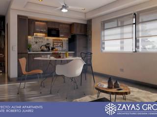 Altar apartments: Cocinas pequeñas de estilo  por Zayas Group