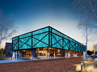 İzmir Büyükşehir Belediyesi Yarı Olimpik Kapalı Havuz Modern Evler Not Mimarlık Modern