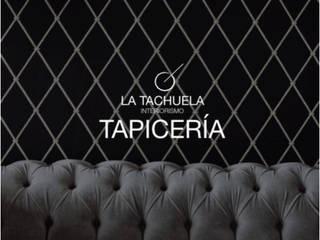 Taller de tapicería:  de estilo  por La Tachuela Interiorísmo Tapiceria y Muebles