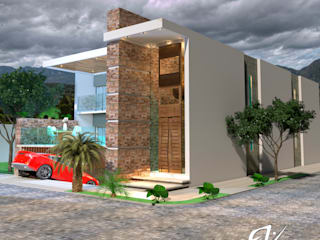 Fachada Resiencia: Casas ecológicas de estilo  por Eduardo Zamora arquitectos