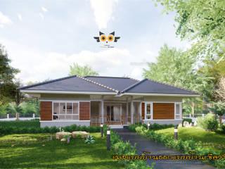 บ้านพักตากอากาศ:  บ้านเดี่ยว by แบบบ้านออกแบบบ้านเชียงใหม่