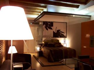 Loft Ramalleres: Dormitorios de estilo  de ESTUDIO DE CREACIÓN JOSEP CANO, S.L.,