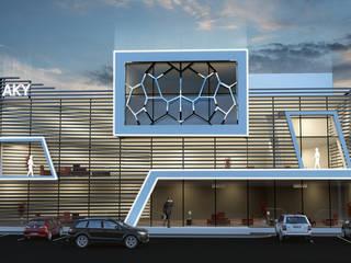 AKY Office Facade Design Modern Evler Lotus Mimarlık/Architecture Modern