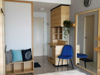 Minimalist corridor, hallway & stairs by Internodec Minimalist