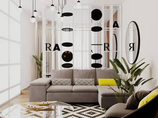 Scandinavian style living room by EM design Scandinavian