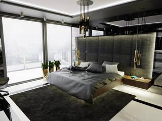 Sleeping in the sky: styl , w kategorii Sypialnia zaprojektowany przez MOONFIELD STUDIO
