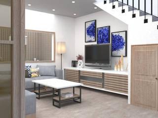 Proyecto de Accesibilidad Desapercibida Salones de estilo moderno de HABI diseño accesible S.L. Moderno