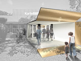 Casas de estilo industrial de Claudia Jasso Industrial