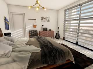 MRO HOUSE: Recámaras de estilo  por Zayas Group