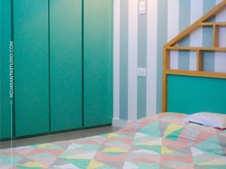 Habitación Growing Up: Recámaras pequeñas de estilo  por Hoja Santa Studio
