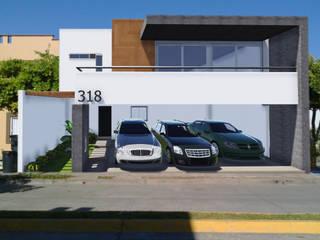 fachadas de casas de 2 plantas de ADapta - Arquitectos Mazatlan