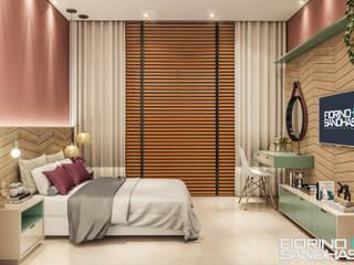 Projetos de Interiores: Quartos  por Fiorino + Sandhas Arquitetos,