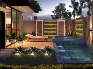 Projetos de Exteriores: Casas  por Fiorino + Sandhas Arquitetos,