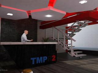 Recepción TMPR2 Estudios y despachos modernos de GT-R Arquitectos Moderno