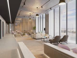 Modern Corridor, Hallway and Staircase by VillaSi Construcciones Modern