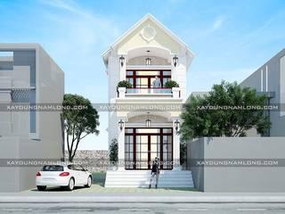 Mẫu nhà 2 tầng mặt tiền 6m:   by Thiết kế nhà đẹp ở Hồ Chí Minh