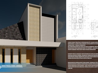 rumah tinggal nordik minimalis Oleh Agatha Design Minimalis