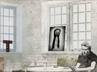 Квартира рок-музыканта Гостиные в эклектичном стиле от Characteriors Эклектичный