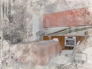 Art квартира в Dominion Столовая комната в эклектичном стиле от Characteriors Эклектичный