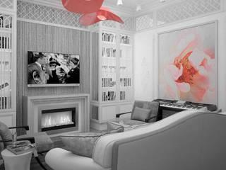 Art квартира в Dominion Гостиные в эклектичном стиле от Characteriors Эклектичный