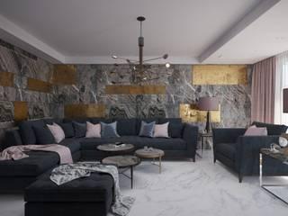 Красивый стильный проект от студии ХАТА в Италии! : Гостиная в . Автор – ХаТа - design