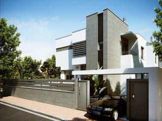 VIVIENDA CAYMA Casas modernas: Ideas, diseños y decoración de GSM Edificaciones Moderno