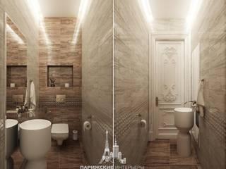 Дизайн санузла в квартире в парижском стиле: Ванные комнаты в . Автор – Архитектурное бюро «Парижские интерьеры»