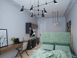 Интерьер комнаты в парижском стиле: Спальни в . Автор – Архитектурное бюро «Парижские интерьеры»