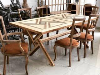 Çam ve ceviz ağacından yemek masası Loca Mobilya Rustik