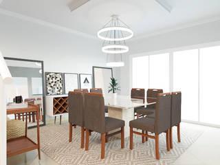 Sala Moderna Sofisticada: Salas de jantar  por EasyDeco Decoração Online