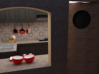 Kitchen by Parabola Arquitectura, Modern