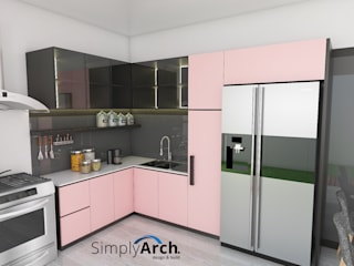 Dapur Dusty Pink:  Dapur built in by Simply Arch.