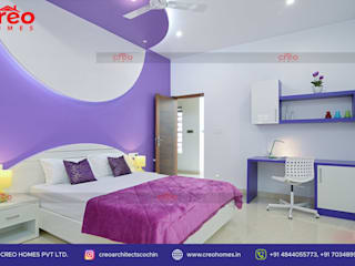 Interior Designers In Kochi Asian style bedroom by CreoHomes Pvt Ltd Asian