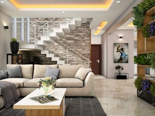Best Home designers & Architects in Kochi, Kerala Modern living room by Monnaie Architects & Interiors Modern