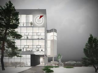 Современное офисное здание, г. Калининград: Дома в . Автор – Архитектурная мастерская 'ПИН и К'