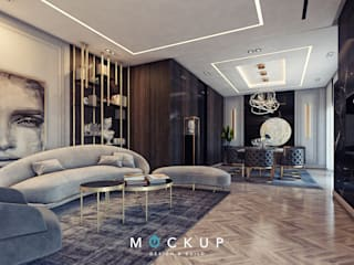 Living room by 	 Mockup studio