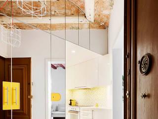 Modern Corridor, Hallway and Staircase by Miel Arquitectos Modern