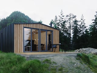 Модульный деревянный дом 53 кв.м от Module dom Рустикальный