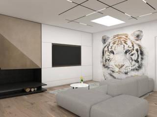 The Grit house Soggiorno minimalista di DFG Architetti Associati Minimalista