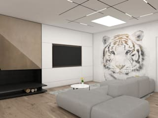 Salones minimalistas de DFG Architetti Associati Minimalista