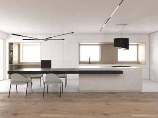 The Grit house Cucina minimalista di DFG Architetti Associati Minimalista
