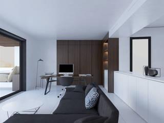 Villa Sommières Bureau minimaliste par Deux et un Minimaliste